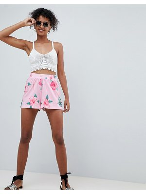 ASOS culotte shorts in tropical floral print