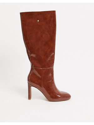 ASOS DESIGN current pull-on knee boots in brown