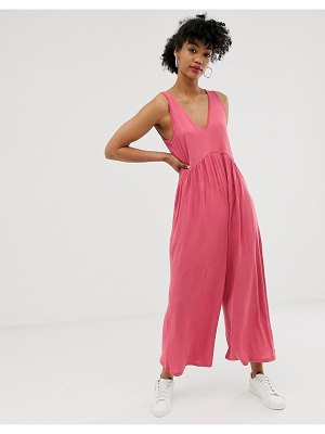 ASOS DESIGN curved smock jumpsuit-multi