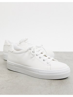 ASOS DESIGN day time chunky flatform lace up sneakers in white