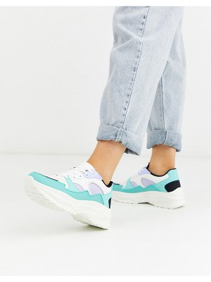 ASOS DESIGN degree chunky sneakers in mint and lilac-multi