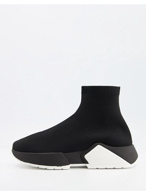 ASOS DESIGN della sock sneakers in black