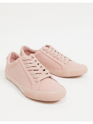 ASOS DESIGN demi lace up sneakers in beige-neutral
