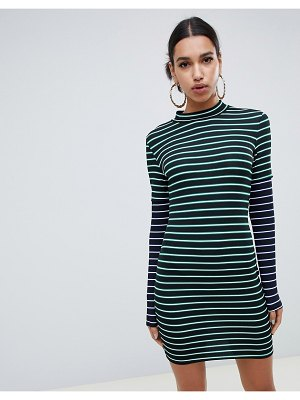 ASOS DESIGN double sleeve stripe dress