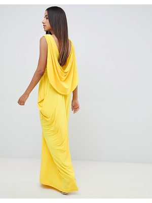 ASOS DESIGN drape back maxi dress