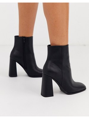 ASOS DESIGN ending heeled ankle boots in black