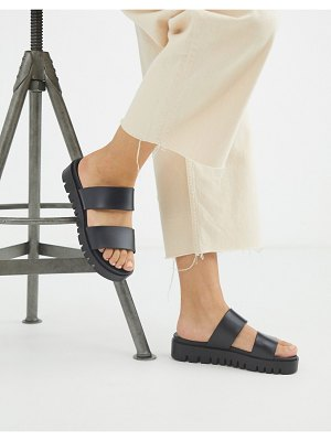 ASOS DESIGN fletch chunky jelly flat sandals in black