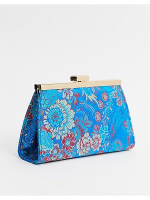 ASOS DESIGN frame clutch bag in jacquard-multi