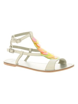 ASOS DESIGN freefall leather sandals with trim