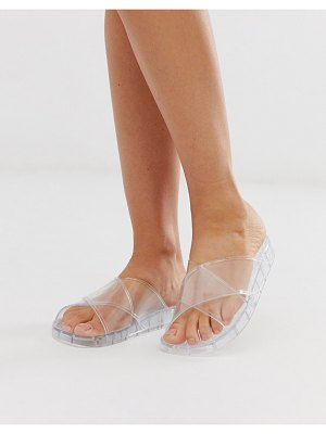 ASOS DESIGN fruity jelly flat sandals in clear