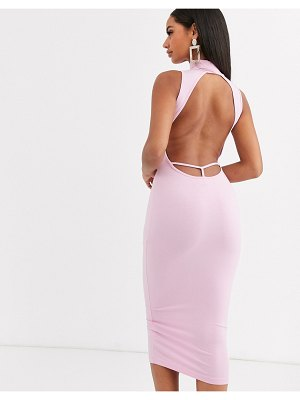 ASOS DESIGN going out bodycon midi dress in pink