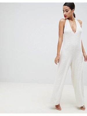 ASOS DESIGN halter neck jumpsuit