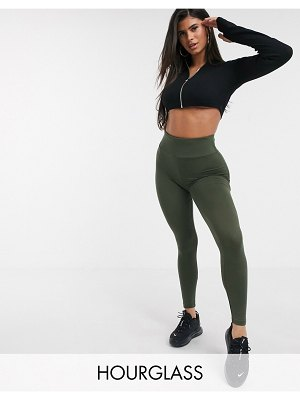 ASOS DESIGN hourglass leggings with deep waistband-green