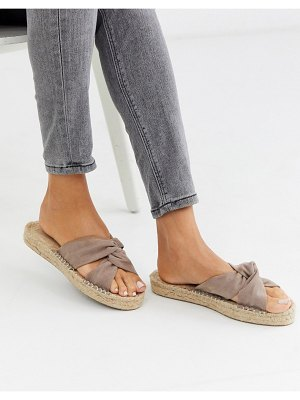 ASOS DESIGN jolly knotted mule espadrille in beige