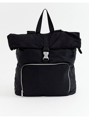ASOS DESIGN large backpack with buckle detail
