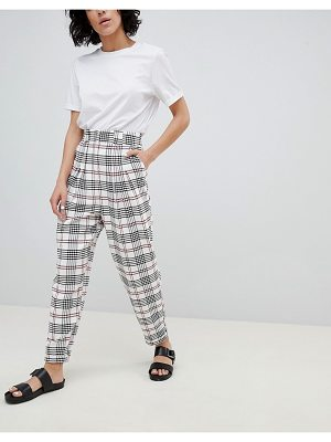 ASOS DESIGN large check tapered PANTS