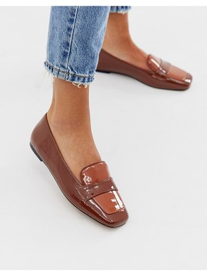 ASOS DESIGN launch loafer ballet flats in tan