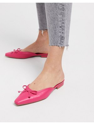 ASOS DESIGN light bow mules in pink