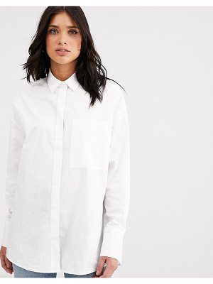 ASOS DESIGN long sleeve boyfriend shirt in cotton