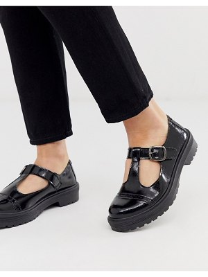 ASOS DESIGN madrid chunky mary jane flat shoes in black