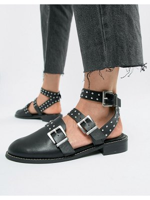ASOS DESIGN mews studded flat shoes