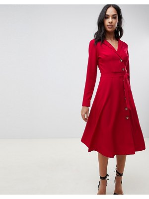 ASOS DESIGN midi shirt dress with buttons