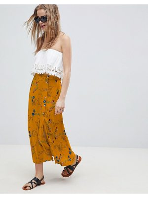 ASOS DESIGN midi skirt with side buttons