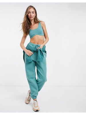 ASOS DESIGN mix & match co-ord oversized sweatpants in teal-blue