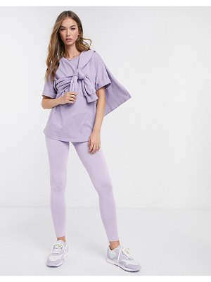 ASOS DESIGN mix & match deep waistband legging in lilac matching set-purple