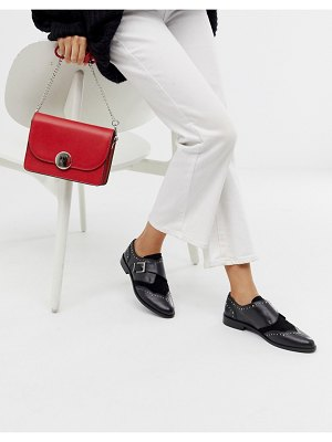 ASOS DESIGN morocco leather monk shoes