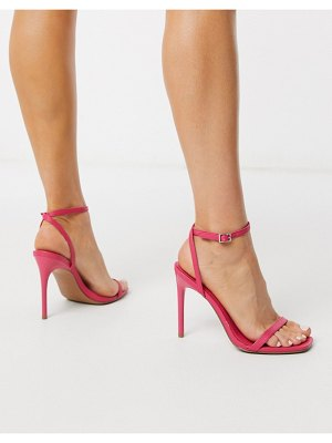 ASOS DESIGN nova barely there heeled sandals in pink