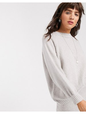 ASOS DESIGN oversized chunky sweater in cream two-piece