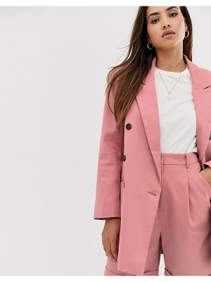 ASOS DESIGN oversized double breasted dad suit blazer-pink