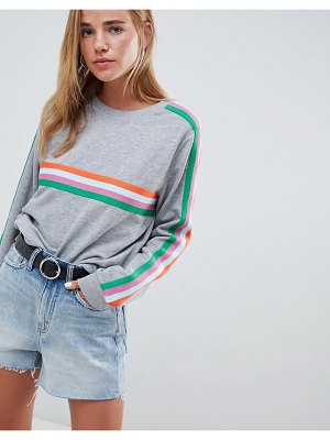 ASOS DESIGN oversized sweat with bright taping detail