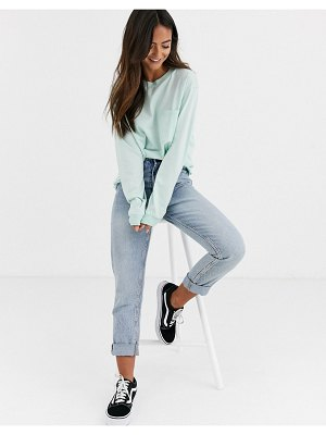 ASOS DESIGN oversized t-shirt with pocket detail in mint-green