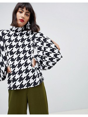 ASOS DESIGN oversized top with sleeve detail