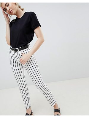 ASOS DESIGN pencil straight leg jeans in tonal mono stripe print