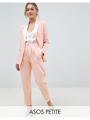 ASOS DESIGN Petite tailored contrast satin tapered PANTS