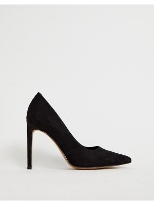 ASOS DESIGN porto pointed high heeled pumps in black