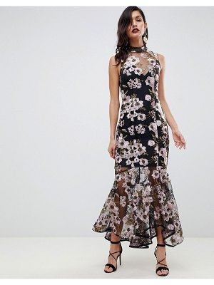 ASOS DESIGN premium embroidered maxi dress