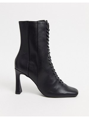 ASOS DESIGN real talk lace up boots in black