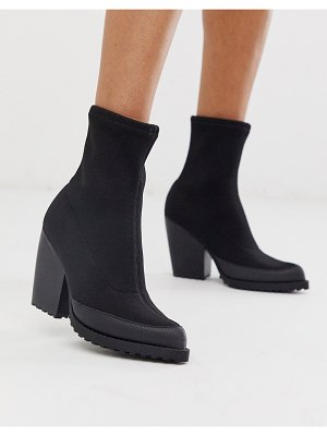 ASOS DESIGN rebound chunky boots in black