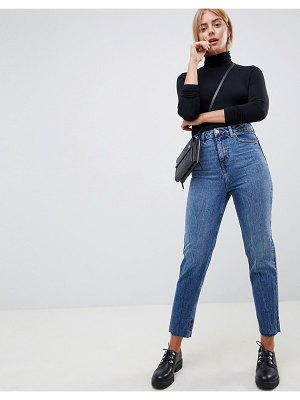ASOS DESIGN recycled ritson rigid mom jeans in rich stonewash blue