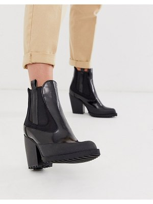 ASOS DESIGN rico chunky chelsea boots in black box