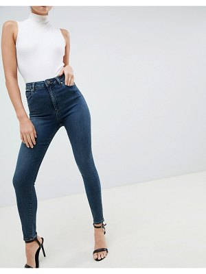 ASOS DESIGN Ridley high waist skinny jeans in greyed blue wash