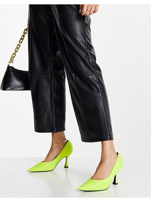 ASOS DESIGN scout mid heel pumps in bright yellow