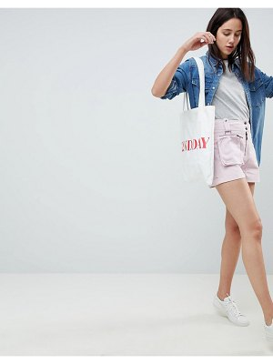 ASOS DESIGN shorts with detachable fanny pack