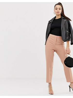 ASOS DESIGN slim pants with military button detail