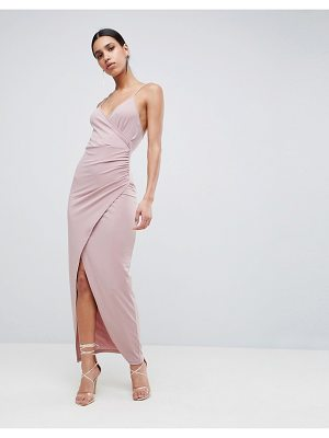 ASOS DESIGN slinky drape maxi dress