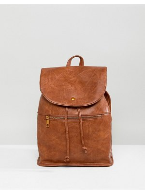 ASOS DESIGN soft backpack with zip detail